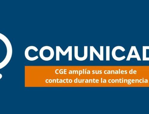 CGE amplía sus canales de contacto durante la contingencia