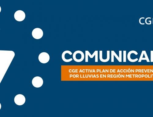 CGE activa plan de acción preventivo por lluvias en Región Metropolitana