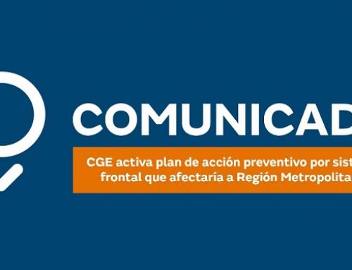 CGE activa plan de acción preventivo por sistema frontal que afectaría a Región Metropolitana